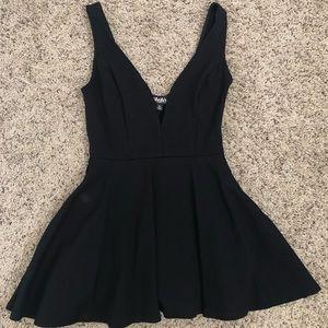 Lulus | I Feel Good Black Skort Dress